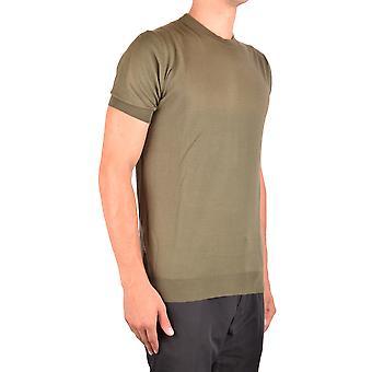 Paolo Pecora Ezbc059040 Men's Green Silk Sweater