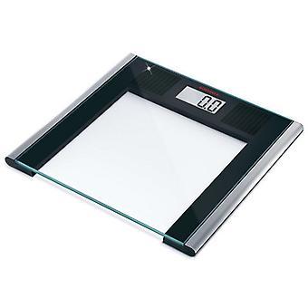 Soehnle 63308 Solar Sense Digitale Personenweegschaal Zwart/Zilver