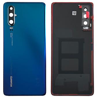 Tampa da bateria da tampa da bateria da Huawei capa Aurora azul/azul para p30 02352NMN reparação novo
