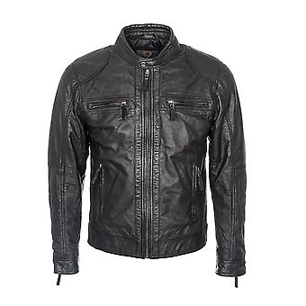 Men's Perforated Biker Jacket