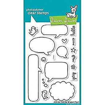 Lawn Fawn Clear Stamps A Birdy Told Me (LF431)