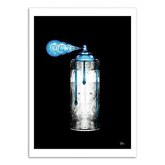 Art-Poster - Spray spray blu lattina - Rubiant 50 x 70 cm