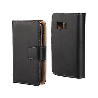 Wallet Case Galaxy Young 2, Genuine leather