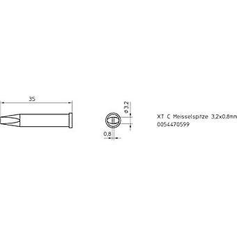 Weller XT-C soldering tip Chisel-shaped Tip size 3.2 mm Content 1 pc (s) Weller XT-C S