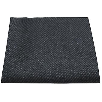 Prussian Blue & Grey Sharkskin Pocket Square, Handkerchief