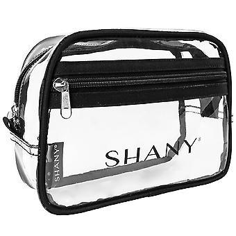 SHANY واضح ماكياج المرحاض تحمل على الحقيبة مع المقصورة سستة - مقاومة للماء وغير سامة حقيبة منظم السفر