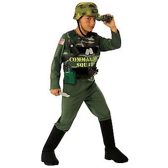 Soldier Commando Squad Army Military Trooper Hero Book Week Boys Costume