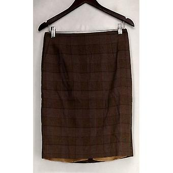 Liz Claiborne York Skirt Heritage Collection Pencil Brown A267301