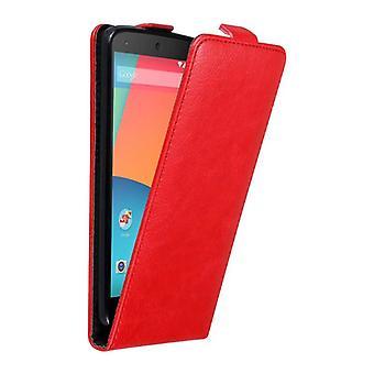 Cadorabo fallet för LG NEXUS 5 fall Cover-telefon Case i flip design med magnetstängning-Case täcka fall fall Case bok Folding Style