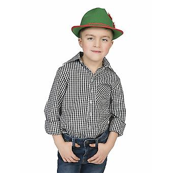 Oktoberfest Tyrolean Shirt Costumes Child Black/White Size for Carnival Carnival Party Pierro's Costume