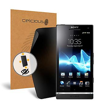 Celicious de confidențialitate plus 4-Way Anti-Spy filtru ecran protector film compatibil cu Sony Xperia S