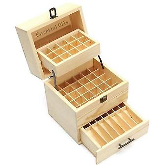 Essential Oils Wood Storage Box | 59 Slots 3-Tier
