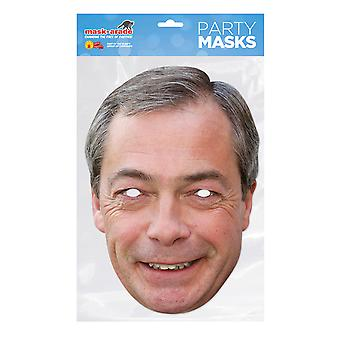 Bristol uutuus miesten Nigel Farage kortti naamio
