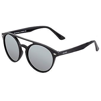 تبسيط النظارات الشمسية المستقطبة فينلي - أسود / فضة