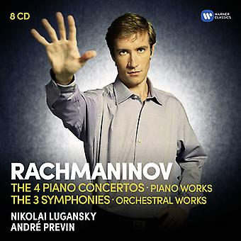 Rachmaninow / Lugansky / Previn / London Symphony Orchestra - Piano Concertos / Sinfonien Rhapsodie über ein Thema [CD]-USA import