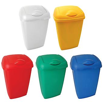 Charles Bentley Flip Top Rubbish Waste Kitchen Bin for Industrial Commercial Use - Various Colours - 50L