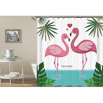 Flamingo's Love Shower Curtain