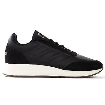 adidas Run70s Mens Fashion Trainer Sneaker Shoe Black