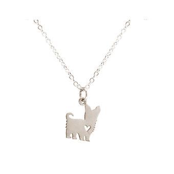 GEMSHINE Yorkshire Terrier Hund Halskette 925 Silber, vergoldet oder rose
