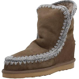 Mou Boots Eskimo Inner Wedge Short Color Dkst