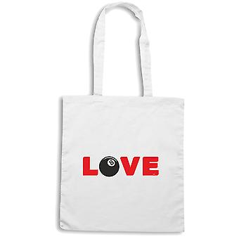 White shopper bag wtc1040 billiard love