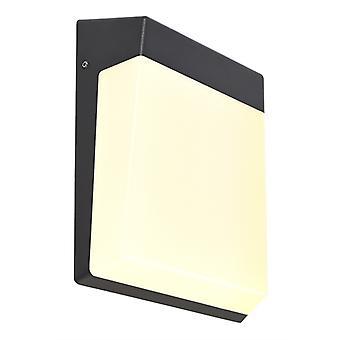 Led exterior wall lamp Gianfar dark grey 161x211mm 3000K 12.5W IP54
