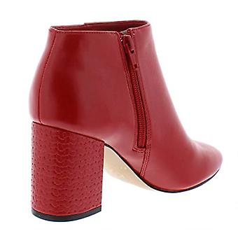 Katy Perry The Corra-Shiny Tumbled/Chain Heel Mat Red, Red, Size 5.5