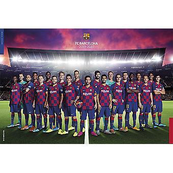 FC Barcelona Poster Mannschaft Saison 2019/2020
