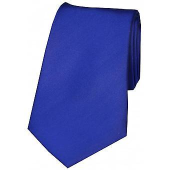David Van Hagen Smooth Satin Silk Tie - Royal Blue