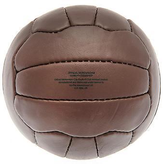 Manchester City FC Retro Cuero Patrimonio Mini Ball