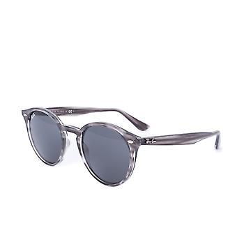 Ray-Ban RB2180 Round Framed Grey Tortoise Sunglasses