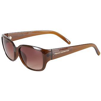 Fransk tilslutning små solbriller-brun