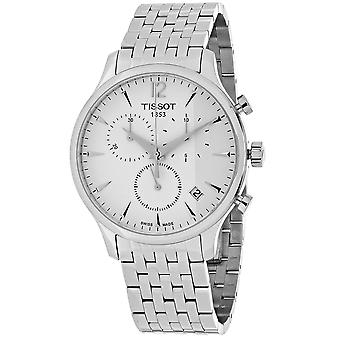 Tissot Men's Tradition Silver Dial Watch - T0636171103700