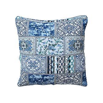 Heine home 2 piece quilt pillow sheaths decorative pillow patchwork blue approx. 40x40 cm