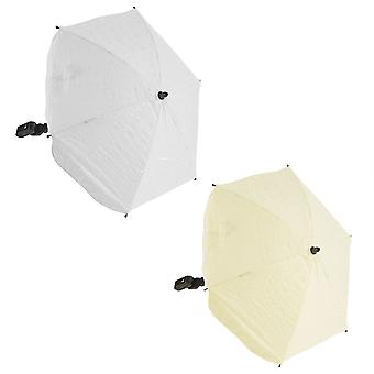 Universal Broderie Anglaise Parasol - Fits All Pushchairs / Prams / Buggies