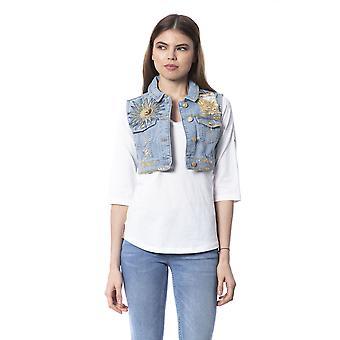 Silvian Heach Women's Light Blue Jacket