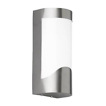 WOFI Foix Outdoor Wall Light In Stainless Steel Finish With Opal Diffuser Ip44 4039.07.97.7000