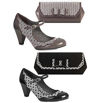 Ruby Shoo Women's Hazel Mid Heel Mary Jane Pumps & Matching Brighton Bag