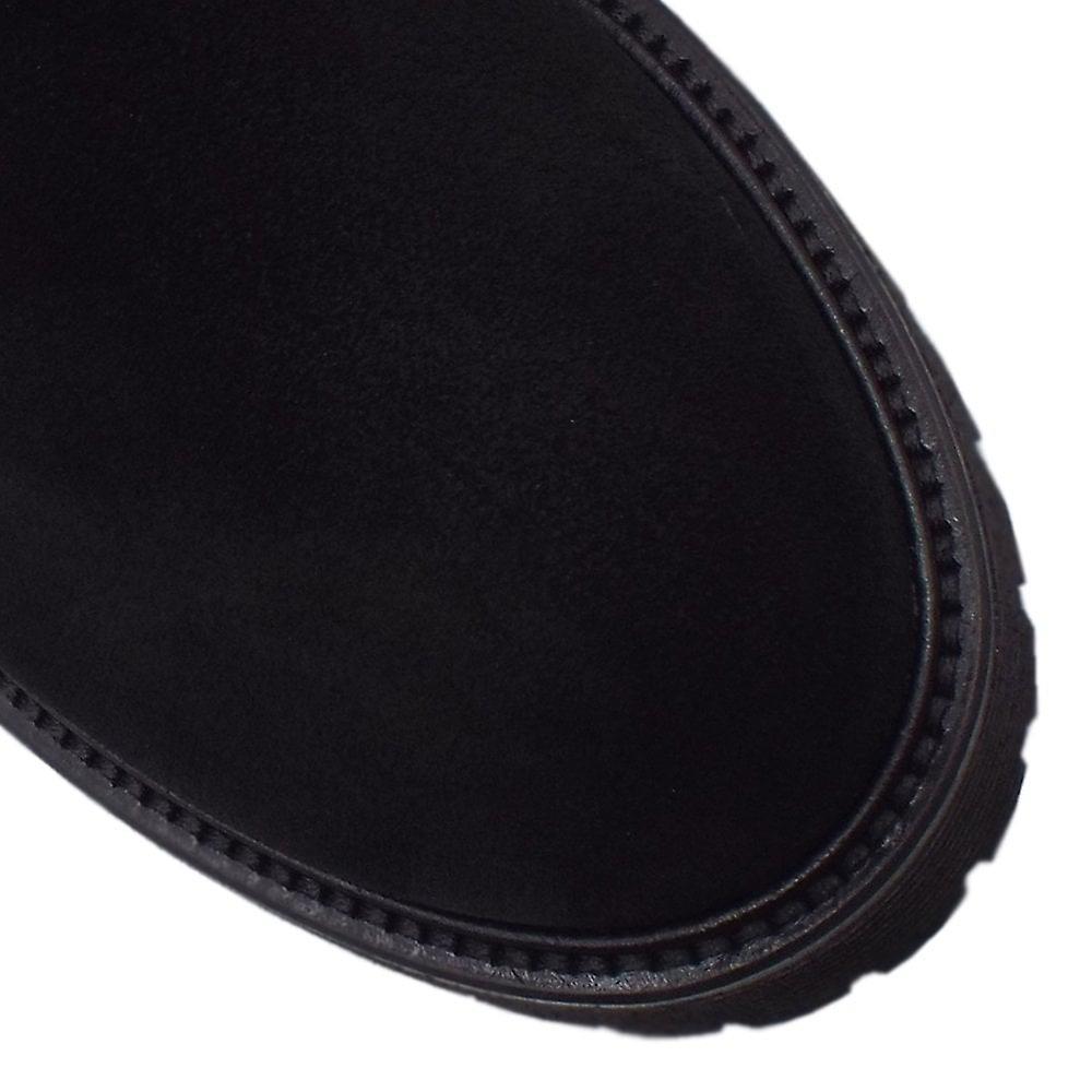 Högl 8-10 2422 Moto Gore-tex Biker stil støvler i svart semsket skinn