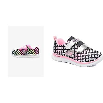 Skechers Childrens Girls Skech Lite Lil Dots Touch Fastening Trainers