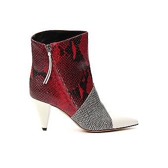 Isabel Marant 19abo031219a063swhrd Women's White/red Leather Ankle Boots