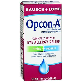 Bausch + lomb opcon-a itching & redness reliever eye drops, 0.5 oz