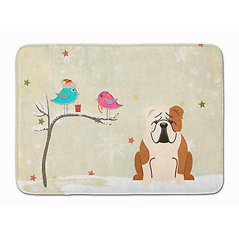 Christmas Presents between Friends English Bulldog Fawn White Machine Washable M