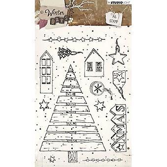 Studio Light A6 Clear Stamp - Winterdagen nummer 313