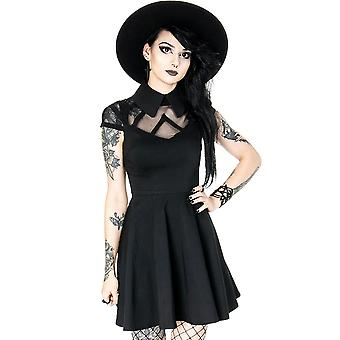 Restyle - wednesday dress - with big, black collar