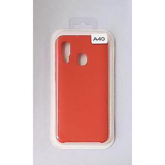 Silicone Cover Case for Samsung A40 Red