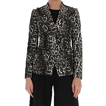 Tagliatore Alicya10bl2003m1249 Women's Leopard Cotton Blazer