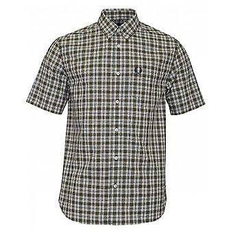 Fred Perry Authentics Small Check Short Sleeved Shirt