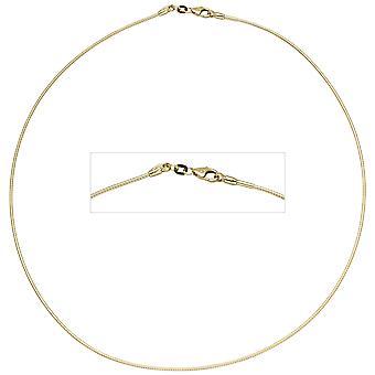 المرأة الخانق 585 الذهب الأصفر 1.1 ملم 45 سم الذهب سلسلة قلادة الذهب الياقات carabiner