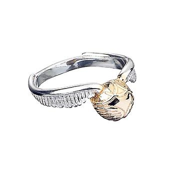 Harry Potter Sterling Silver Golden Tjallare Ring: Medium